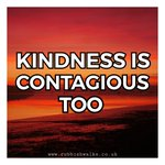 Image for the Tweet beginning: Kindness is contagious too you