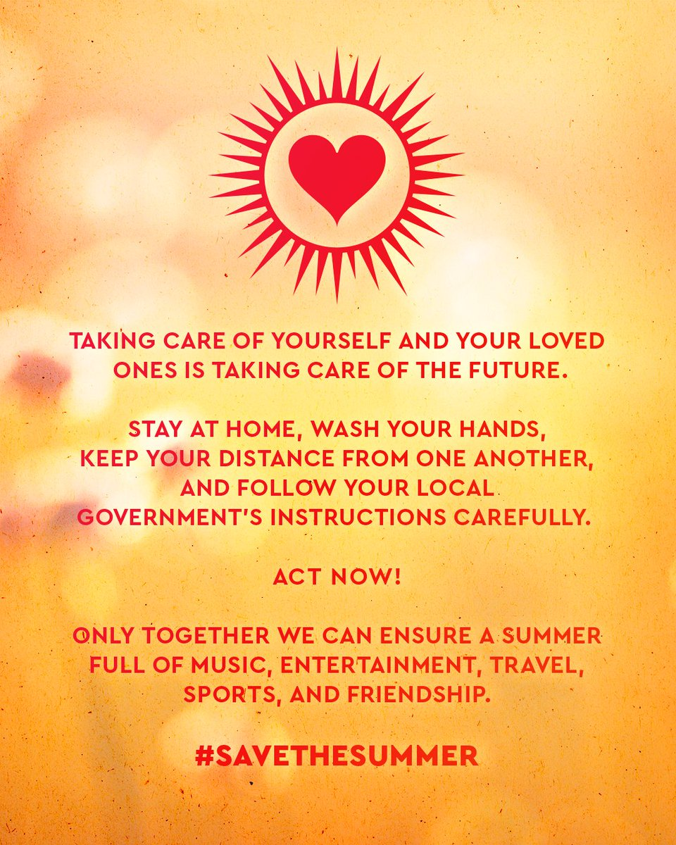 🗣️   24 teams, 1 opponent.  This time, we are all on the same side.  Tactical guidelines: ✅Stay at home ✅Keep your distance ✅Follow the government's instructions  Act like a teammate for everyone who needs support.  Let's beat COVID-19!!!  #BEATCOVID19 #SAVETHESUMMER https://t.co/QVaxcqemhR