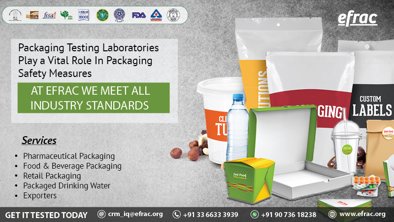 Worried about your #Packaging Material? EFRAC Packaging Testing Lab provides end to end #testing support & get your Packaging Material government certified. #PackagingTesting #PackagingMaterialTesting #Fssai #FDA #PharmaceuticalPackaging #BIS #WaterPackaging #foodsafety #Foodpic.twitter.com/gKzjJkiHmT