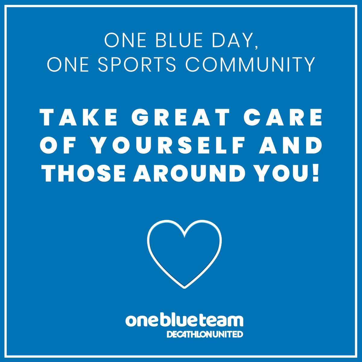 One Blue Day, One Sports Community Take great care of yourself and those around you! 💙  #IndoorSport #SportAtHome #KeepMoving https://t.co/4RDNw2oTfi https://t.co/FzZmNlGBm7