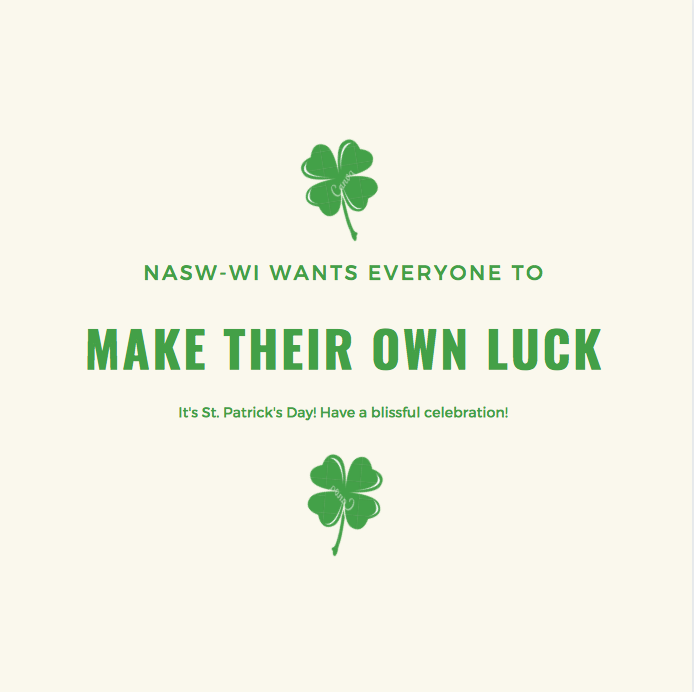 Happy St. Patrick's Day! #socialworkers #luck
