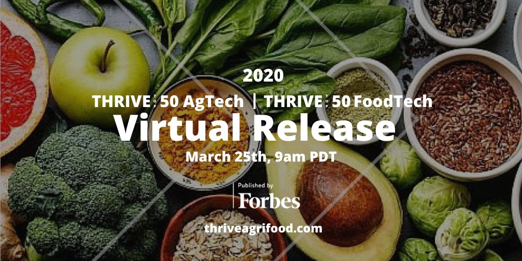Image for the Tweet beginning: @THRIVEAgTech is sharing a virtual