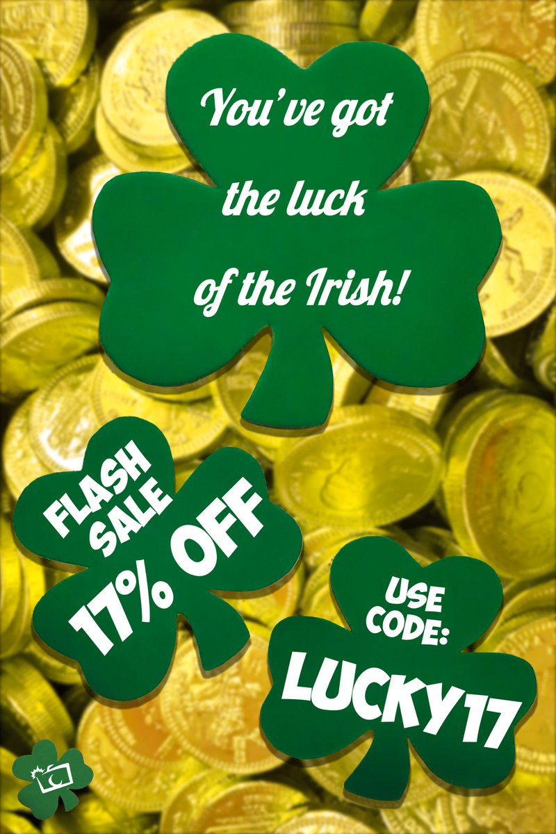 May the luck of the Irish be with'ya!  Along with your extra luck today, we bring you...   A 17% OFF FLASH SALE!   Use code:  LUCKY17 when you checkout, and don't miss out!  #stpatricksday #stpatricksday2020 #shamrock #lucky #islandphotony #longislandphotography pic.twitter.com/xWEwHu3kU7