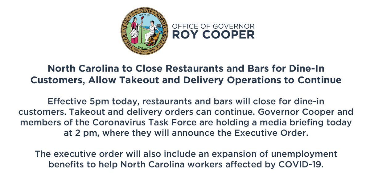 Governor Roy Cooper (@NC_Governor) on Twitter photo 17/03/2020 16:40:04
