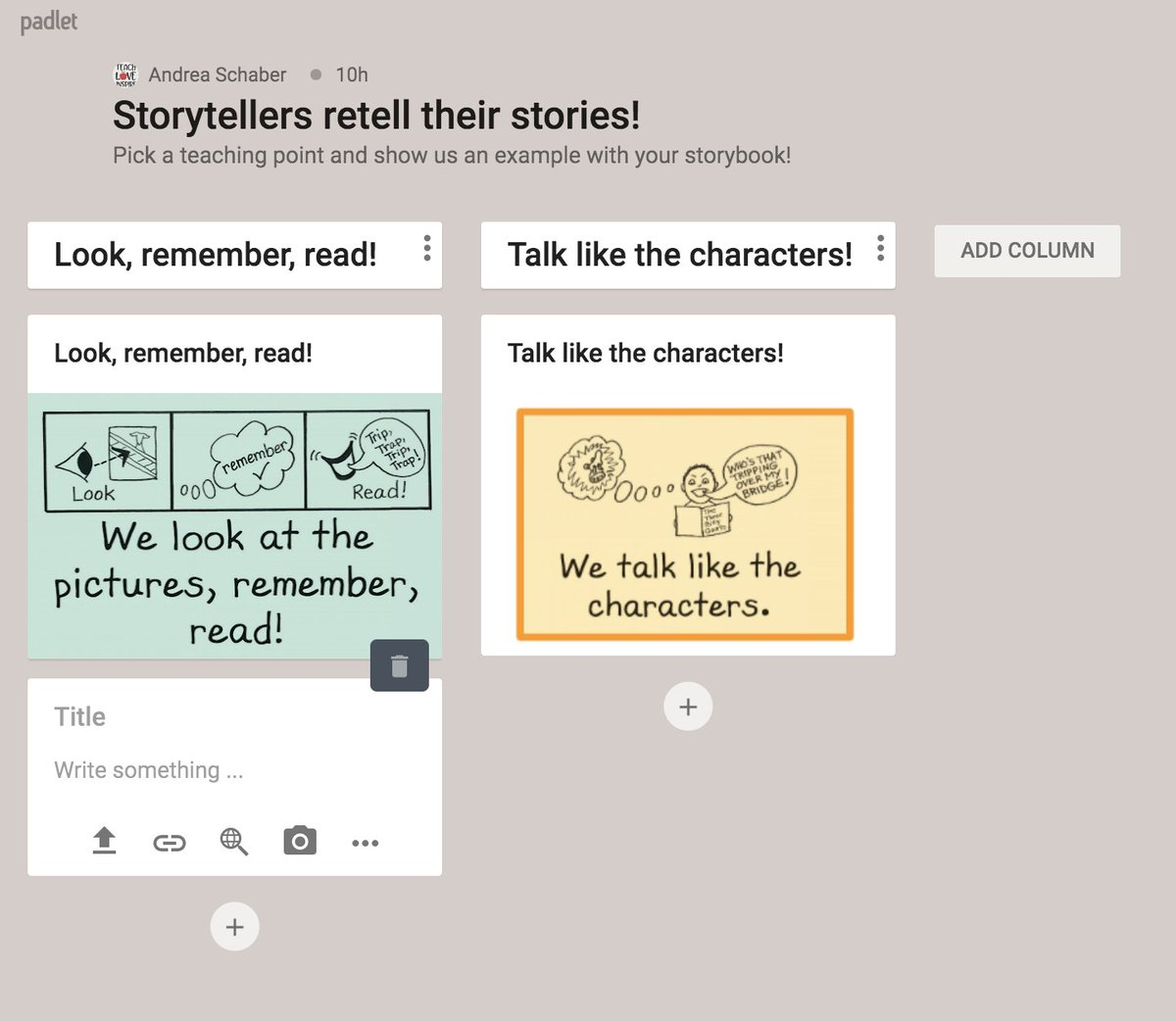A4: A place for students to post their work and possibly create virtual book clubs @padlet #basecampread