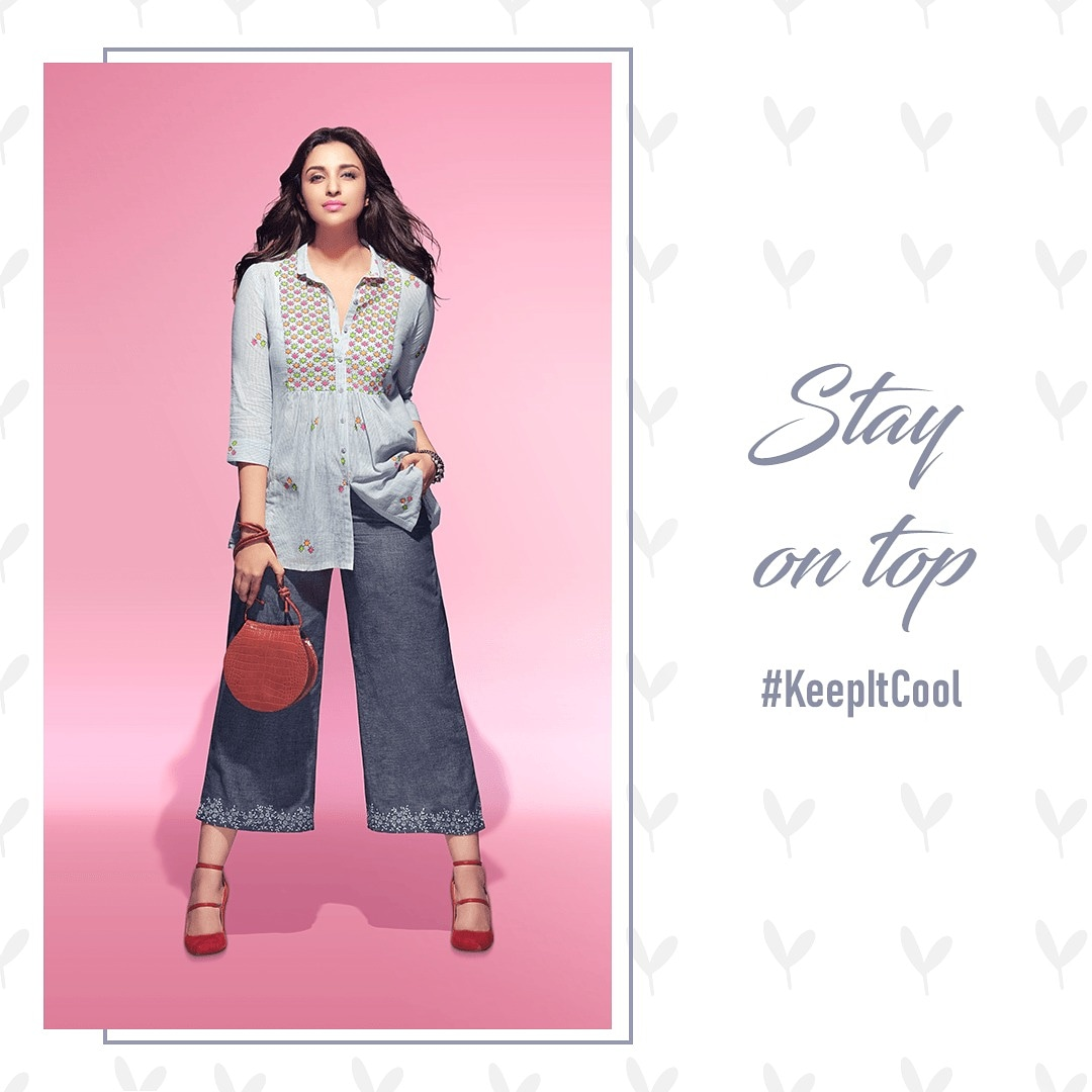 Upgrade your style to a whole new level with Indie Kurtas from our all new Spring Summer Collection. Embrace your beauty and #KeepItCool ! . . . . . . . #ParineetiForRangriti #SS20 #StyleKaUpgrade #styletrends pic.twitter.com/CGiPKwny2Q