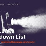 LAUNCH: The @WikiLeaks Lockdown List: https://t.co/wk5jSgNZqx Watch free documentaries, talks & interviews about #WikiLeaks, #JulianAssange, #Whistleblowing & #journalism.  Please look after yourself and those around you during the #CoronavirusOutbreak