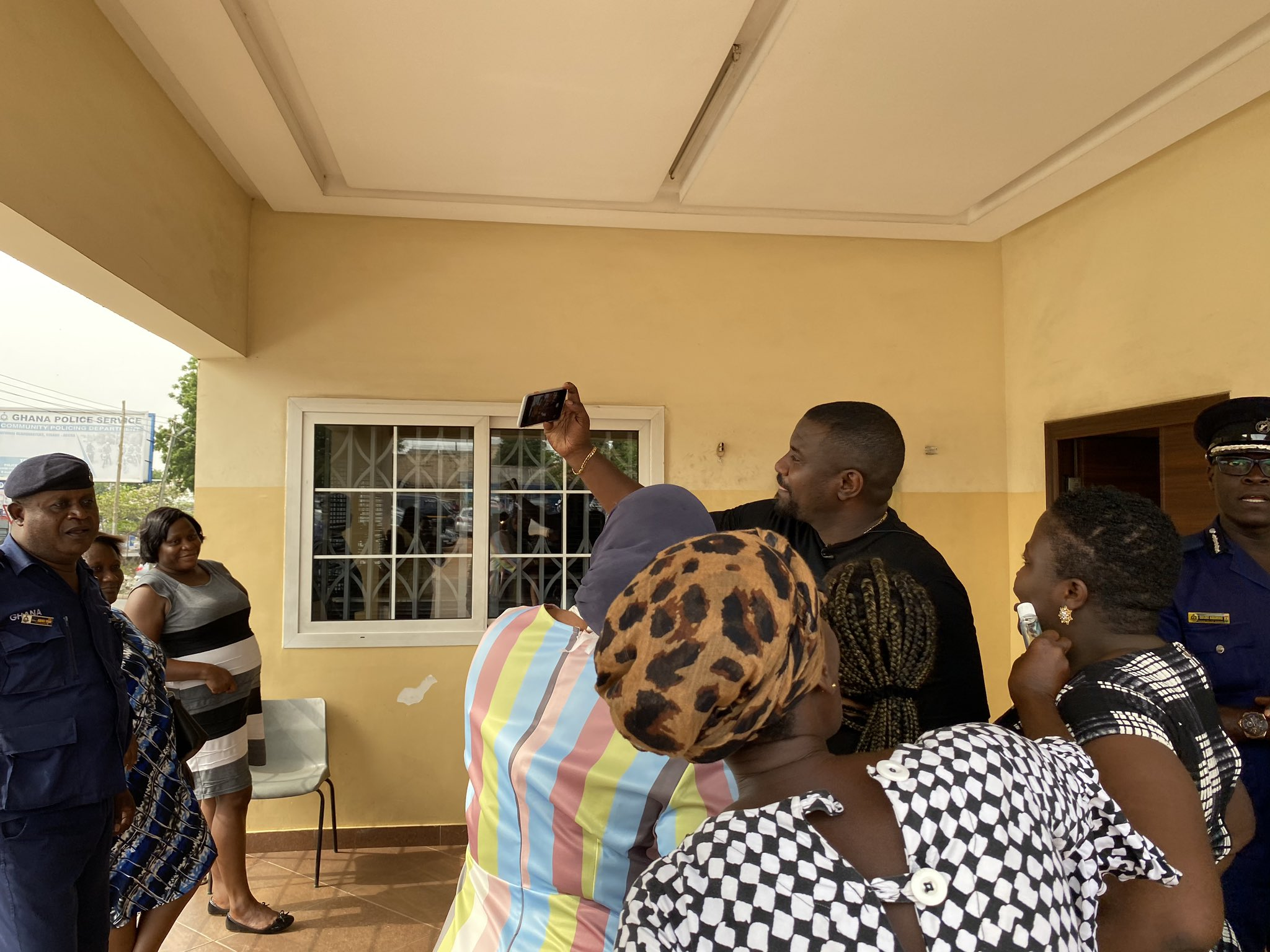 John Dumelo lavish Ghana Police with Coronavirus Kits