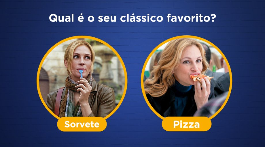 Qual é o seu clássico favorito, sorvete ou pizza?🍦🍕 https://t.co/JJbVhFhGMz