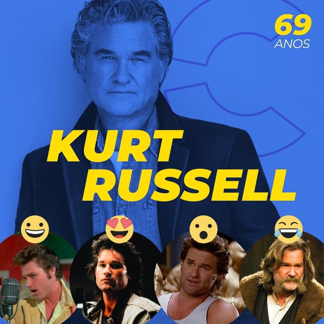 Kurt Vogel Russell está soprando as velinhas! Qual filme desse astro você mais gosta? São mais de 60 produções para aplaudir! https://t.co/9muQGEiuXU