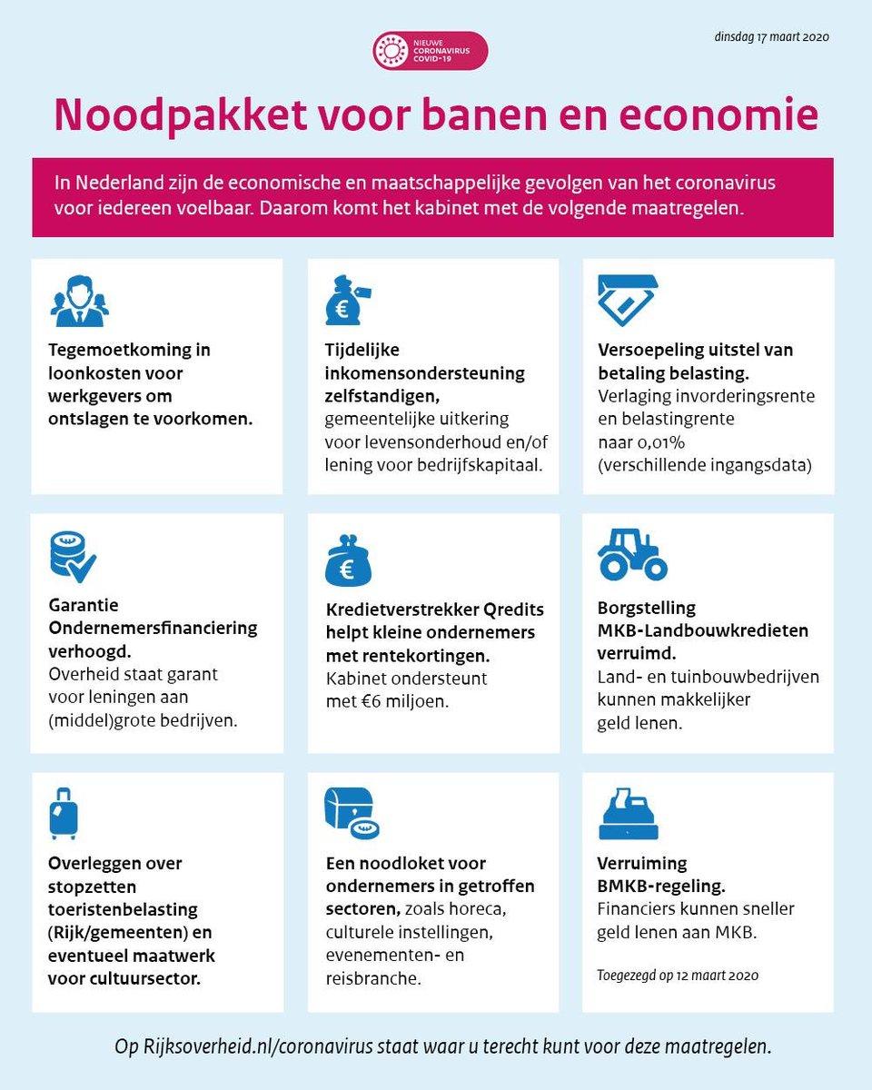 Kabinet wil doen alles doen voor werkgevers, werknemers en ZZp ers Noodpakket voor banen en Economie. https://t.co/89I5vQ3YYu
