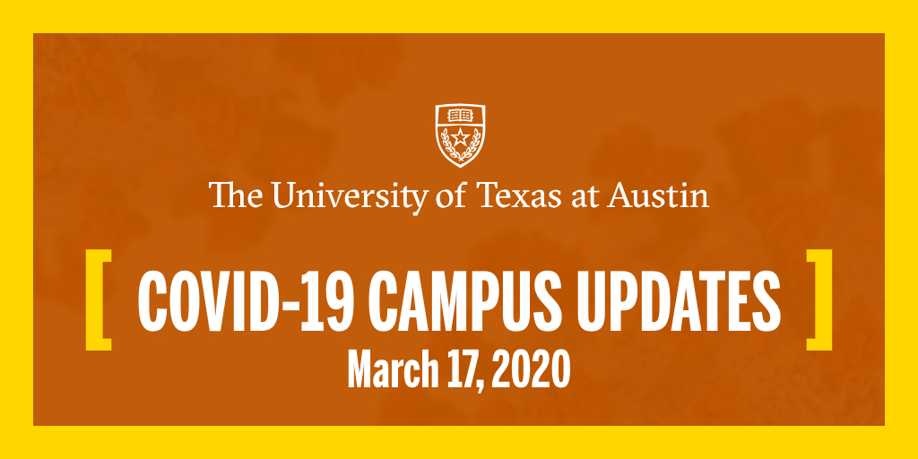 CORONAVIRUS UPDATE   TUESDAY, MARCH 17 (1/10)  Starting on March 30, we will be moving all spring semester classes online. We are asking students not to return to campus this semester unless there is a specific need: https://t.co/Vx3hdgkyzU https://t.co/KOosUPgaDa