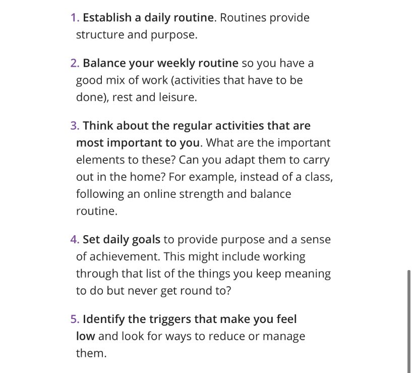 As Social Distancing is something many of us will have to deal with over the next few days, weeks and months due to #COVID2019... We at @theRCOT have put together 10 TOP TIPS 💡 to help maintain that mental 🧠 , emotional 😊 & physical 💪🏻 health!