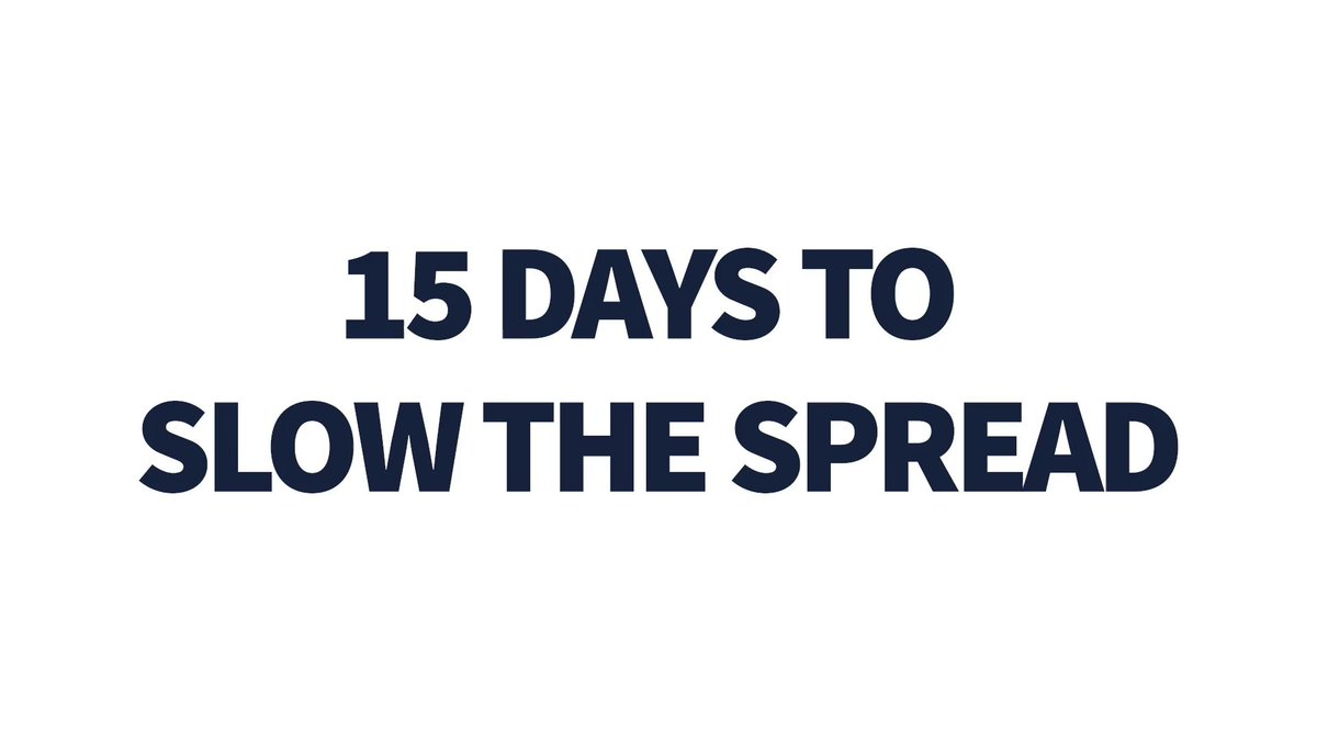 We are in this together! 15 Days to Slow the Spread: