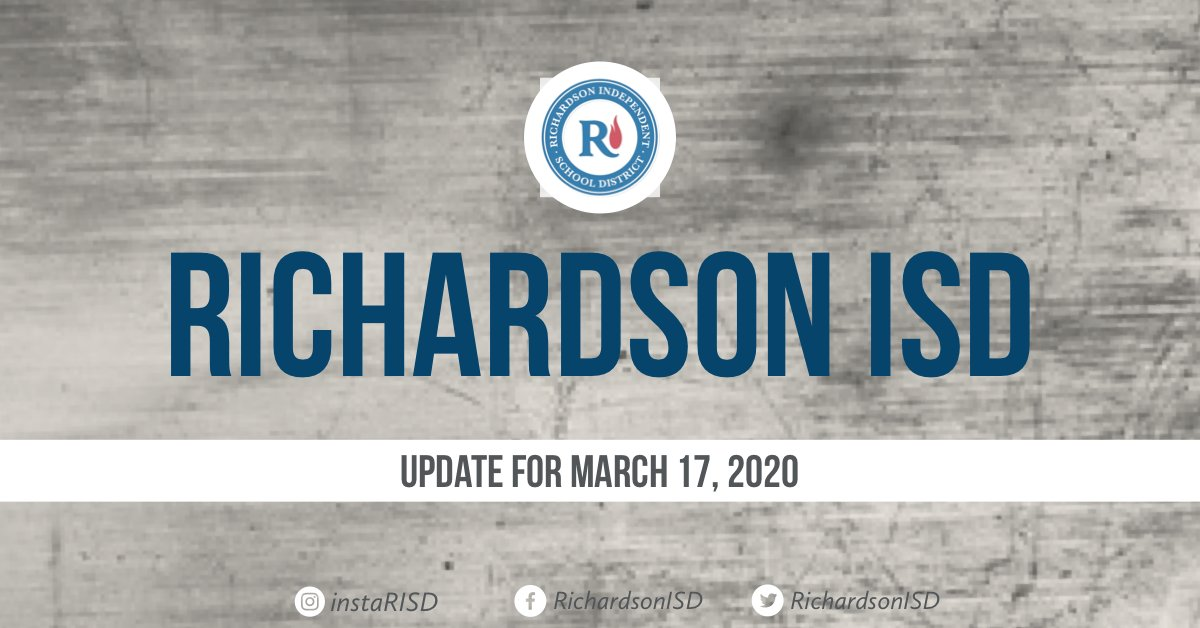 📢Richardson ISD School Closure Update - 3.17.20📢 risd.org/Group/Parents/…