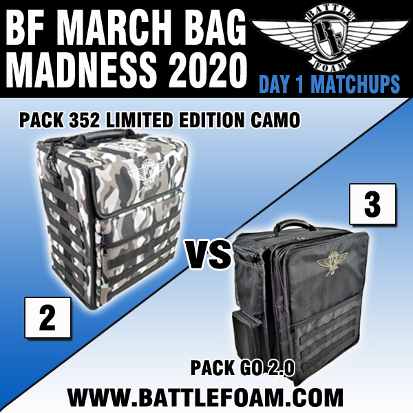 Battle Foam On Twitter Bf March Bag Madness 2020 Schedule And Matchups For Day 1 Don T Forget To Share And Comment To Be Entered To Win 200 Battle Foam Bucks Winner Will For more info about the battle foam p.a.c.k. twitter