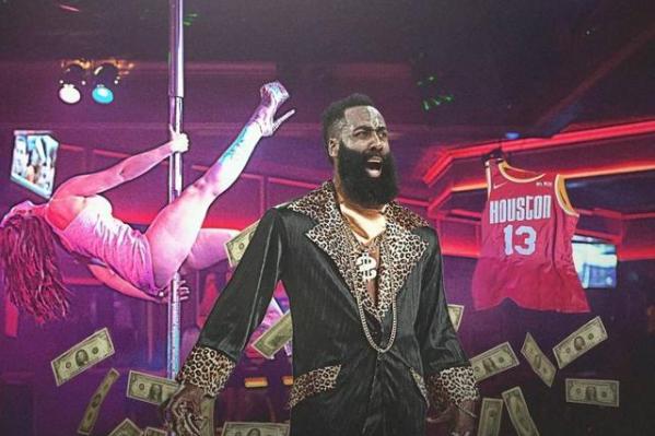 NBA停擺,這位巨星卻獲得意外獎賞!曝夜店退役哈登球衣,感謝多年貢獻!