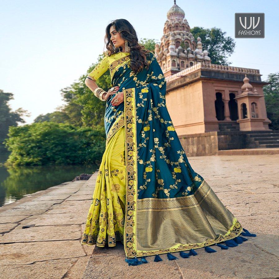 Buy Now @ http://bit.ly/2PBd8fD  . Stylish Teal And Green Color Fancy Fabric Designer Saree . Fabric - Fancy Fabric . Product No  VJV-TATH3807 . #saree #sarees #designersaree #weddingsaree #bridalsaree #silksaree #banarasisarees #netsaree #ethnicsaree #partywearsaree pic.twitter.com/yN9gdzbSiL