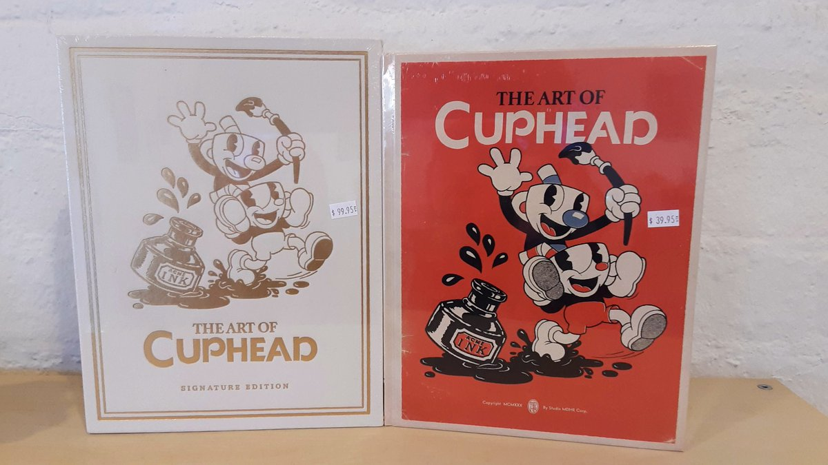NEW! We got the Art of #Cuphead books in stock here at @Game_Realms in #Burbank #California!  Please call our store for current prices & stock! @StudioMDHR @DarkHorseComics  #switch #Nintendo #nintendoswitch #xbox #xboxone #fleischerstudios #animation #art #mugman https://t.co/vk1at6lpcT