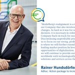 Image for the Tweet beginning: CEO Rainer Hundsdörfer comments the
