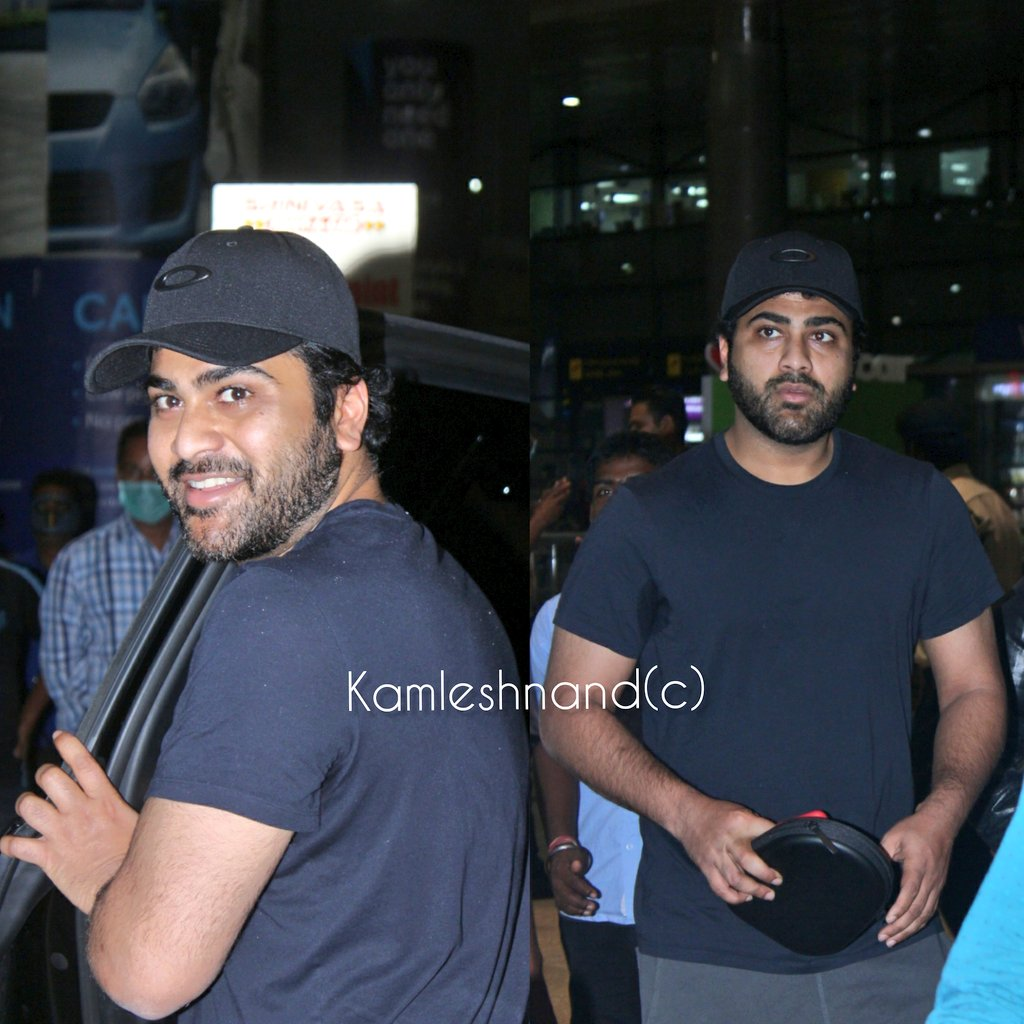 Actor #sharwanand spotted early mrng at Hyderabad airport back from USA @kamlesh_nand #Tollywood #southcelebs pic.twitter.com/POtFWhM7fG