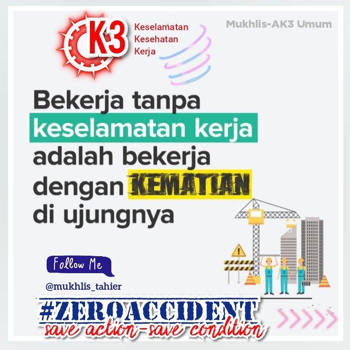 Bekerja tanpa keselamatan kerja adalah bekerja dengan kematian di ujungnya.  Untuk Sobat Safety, ingatlah keluargamu menunggu di rumah. Keep Safety!  #IndonesianMelawanCorona #CoronaVirus #VirusCorona #Covid19 #HealthyandSafety #Paytren517 #ConnectingYourLife #AhliK3Umum https://twitter.com/mukhlis_tahier/status/1240135213063319553…pic.twitter.com/K9QPDLTXgI
