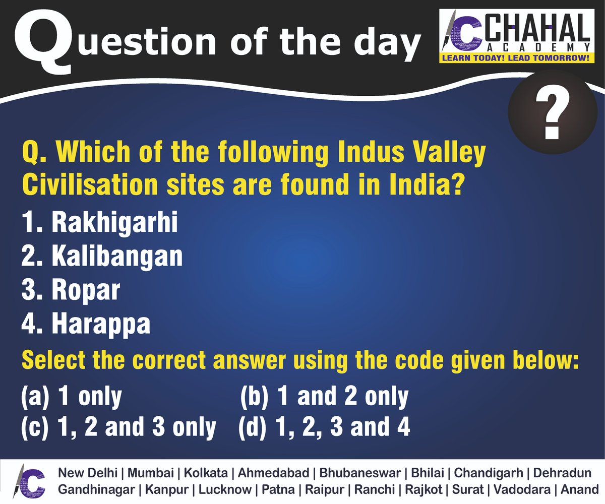 Question of the Day  Answer - C  #18thMarch2020 #Questionoftheday #UPSC2020 #IPS #IBPS #governmentexam #Currentaffairs #iasquestion #UPSCQuestion2020 #dailyquiz #coachinginstitute #iascoachingcenter #IASquestions #civilserviceexam  Visit:- http://chahalacademy.compic.twitter.com/psDco8MRMR