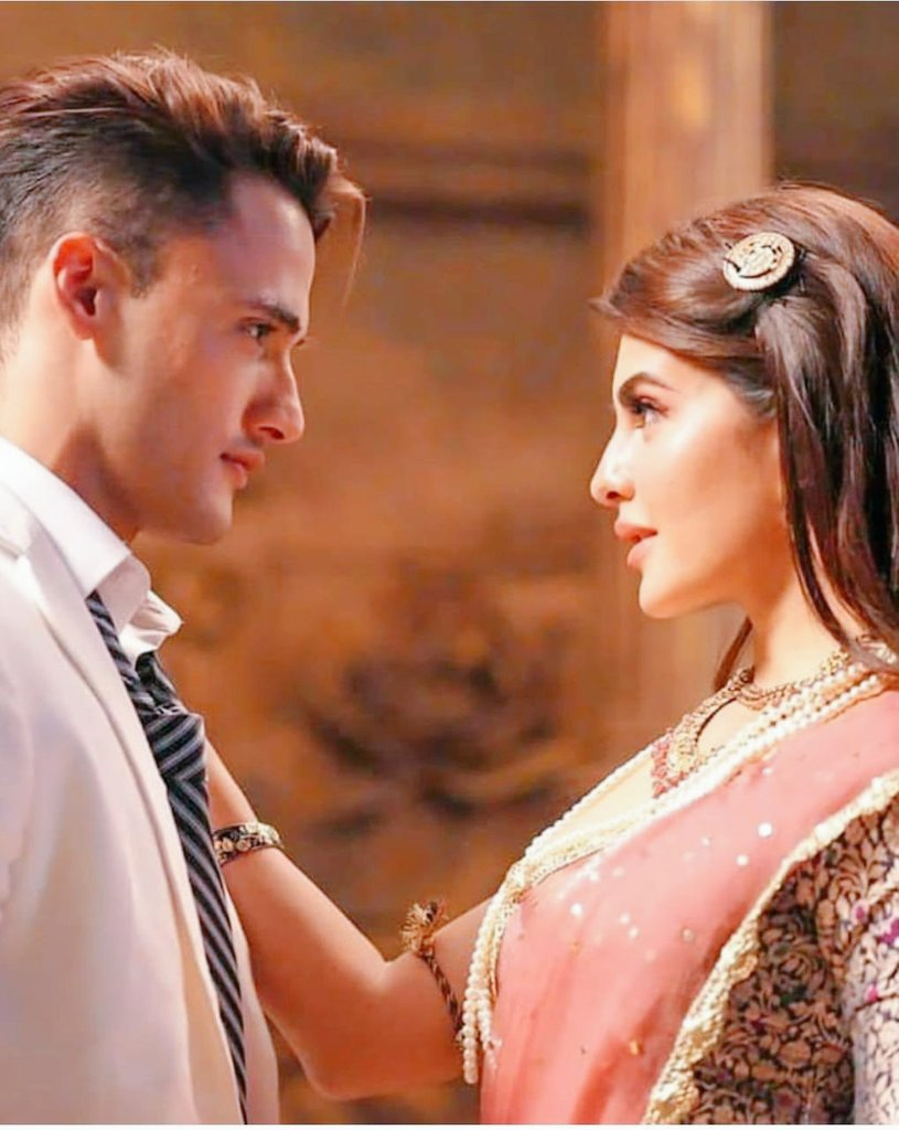 Asim Riaz with Jacqueline Fernandez in Mere Angne Mein music video