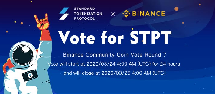 Greetings from Cosmochain, Congrats to our partner @STP_Networks to be selected at @Binance Community vote Round 7! We will be voting for you. Please support for #STPT!