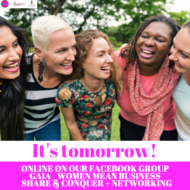 "Join us ONLINE tomorrow !!!!  1 Day to go! Join us ONLINE for a fun evening online on the 19th March ""Share & Conquer"" + Networking Session online on Gaia Facebook Group: Gaia_WomenMeanBusiness  #online #networking #seminar #events #workshops #event#thegaianetworkpic.twitter.com/014M6lrlA8"