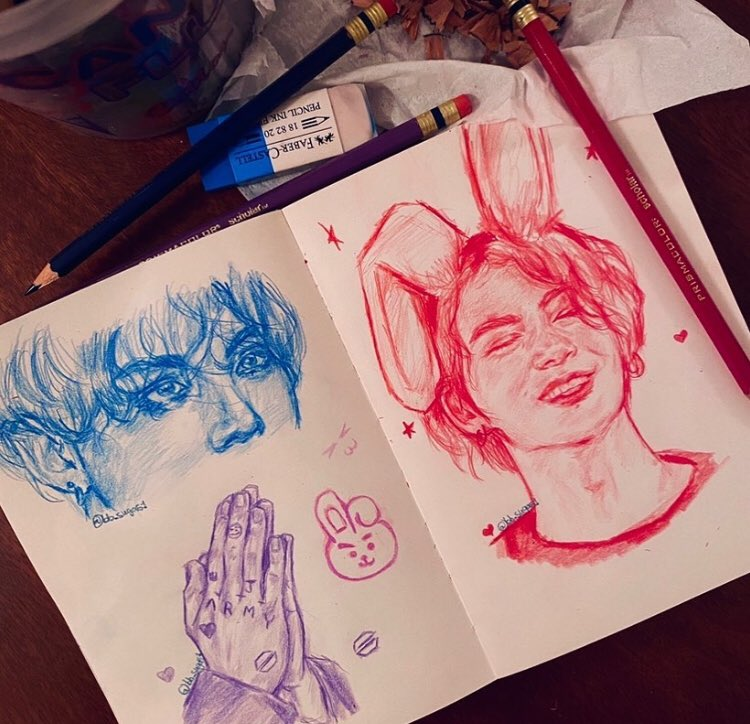 It's confirmed jk is actually a bunny #fanart #kpopfanart #fanartkpop #kpopart #artwork #bts #btsart #btsfanart #bangtanfanart #jungkook #jeonjungkook #kookiefanart #art  #colerase  #drawing #kpopdrawing #blue #purple  #redsketch #redpencil #coleerase  #sketch #sketchbookpic.twitter.com/z6EFFjOPrK