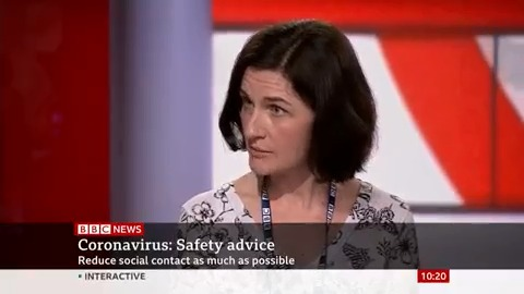 """""""My fiancée is 35-weeks pregnant. Should we let our 6-year-old go to school with the risk of her bringing coronavirus home?"""" asks a viewer. Public health consultant Dr Rebecca Cooper says while she is not showing symptoms, it's fine for her to go bbc.in/3d8PCRu"""