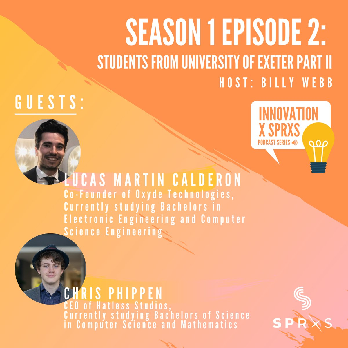 PODCAST S1E2   Part 2 of our conversation with Chris and Lucas is now live! These student entrepreneurs are making the most out of their time in university by starting their own businesses.  Listen to the podcast here: http://bit.ly/3afDnkE  #studententrepreneurs pic.twitter.com/zKIJX0tJJD