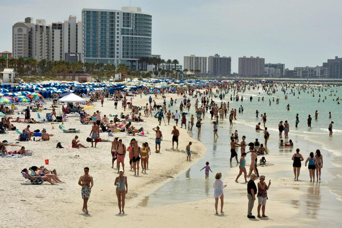 No coronavirus party: U.S. spring break destinations crack down on…