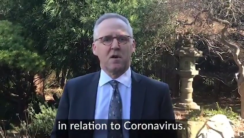 An update from acting British Ambassador to the US @MichaelHTatham on travel restrictions applied by the US in relation to coronavirus.   For the latest, please visit https://t.co/Bnt2GnQ5VE and follow @FCOtravel https://t.co/X2Qd4Rno6s