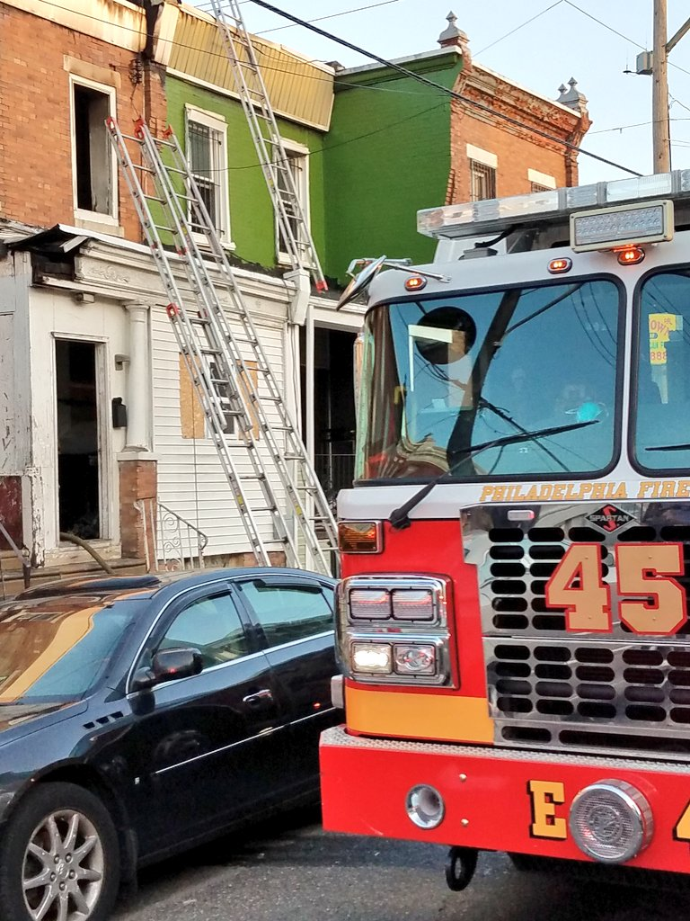 This fire near 24th & Huntingdon in North Philly was placed under control at 7:19 a.m. #24x7x365