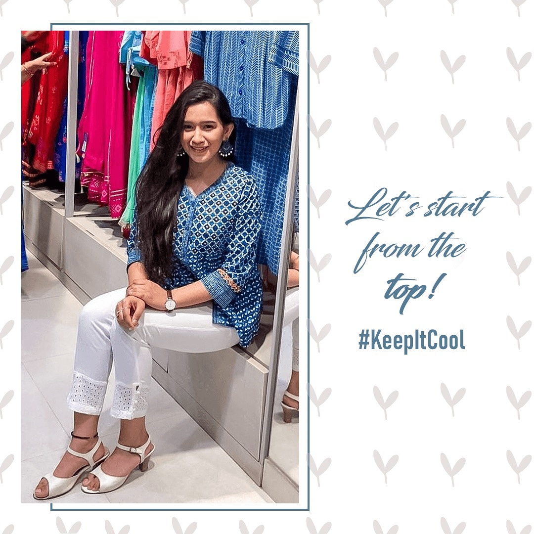 Summers are incomplete without these blues! Ace your look and #KeepItCool, just the way @shradha.malik does it and slay your day, your way!  #ParineetiForRangriti #SS20 #StyleKaUpgrade #styletrends pic.twitter.com/3Q8tvU1Lxz