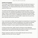 Image for the Tweet beginning: COVID-19 Update: Please continue to
