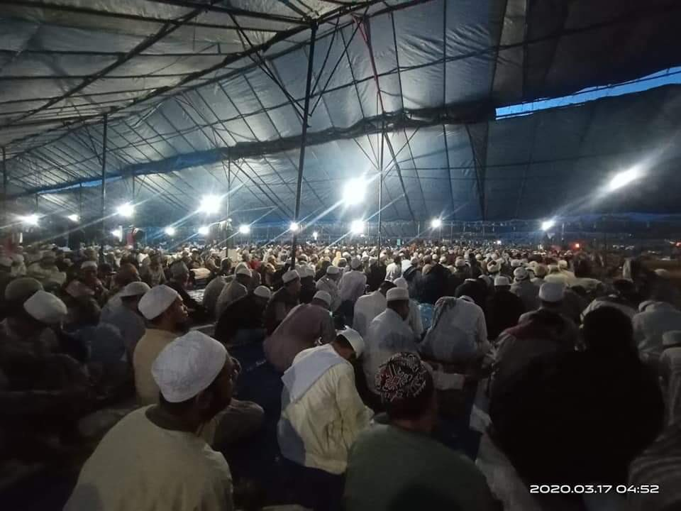 Mass Islamic prayers underway in Gowa, Indonesia. Some 9000 pilgrims from across Asia and the Middle East are there despite the acute coronavirus risk. Two weeks ago , a similar event in KL led to more than 500 infections.