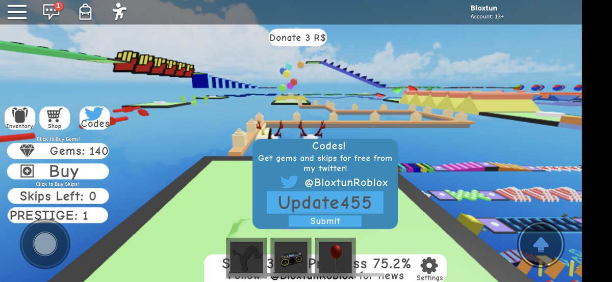Bloxtun On Twitter You Are Putting Update 445 It S Update455