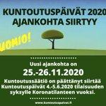 Image for the Tweet beginning: Kuntoutussäätiö siirtää Kuntoutuspäivät 4.–5.6.2020 uuteen
