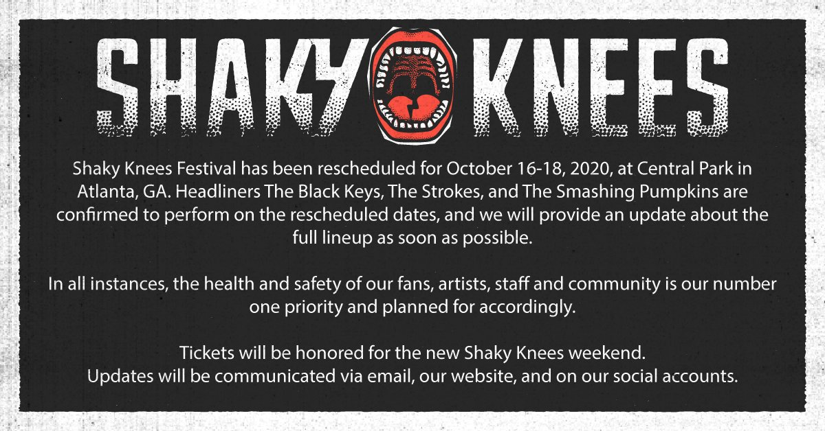 Shaky Knees 2020 dates