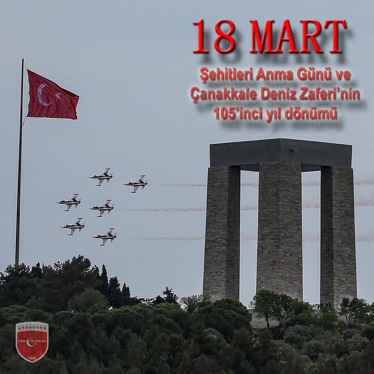 Çanakkale Zaferi'nin yıl dönümünde bu toprakları bize mukaddes bir vatan olarak emanet eden tüm şehitlerimizi, başta Gazi Mustafa Kemal Atatürk olmak üzere tüm kahramanlarımızı rahmetle ve şükranla anıyoruz. #çanakkale #çanakkalegeçilmez #türkiye #bayrak https://t.co/Yd2ELNGa9T
