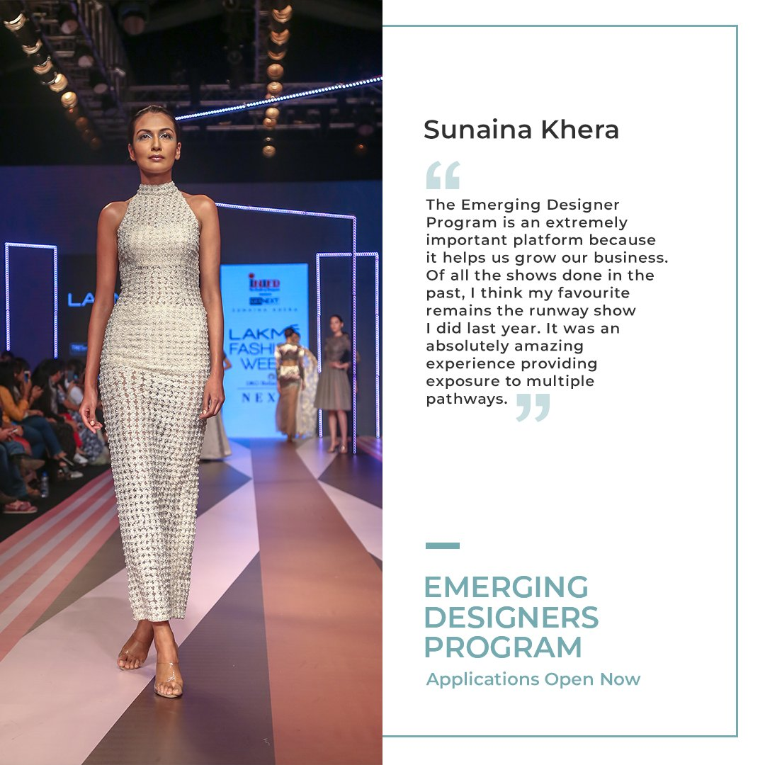 Lakme Fashion Week On Twitter Sunainakhera S Design Ethos Revolves Around Creating Simplistic Ensembles With Deeper Meaning Apply For The Emerging Designer Program And Showcase Your Label At Lakme Fashion Week Winter Festive 20 Visit