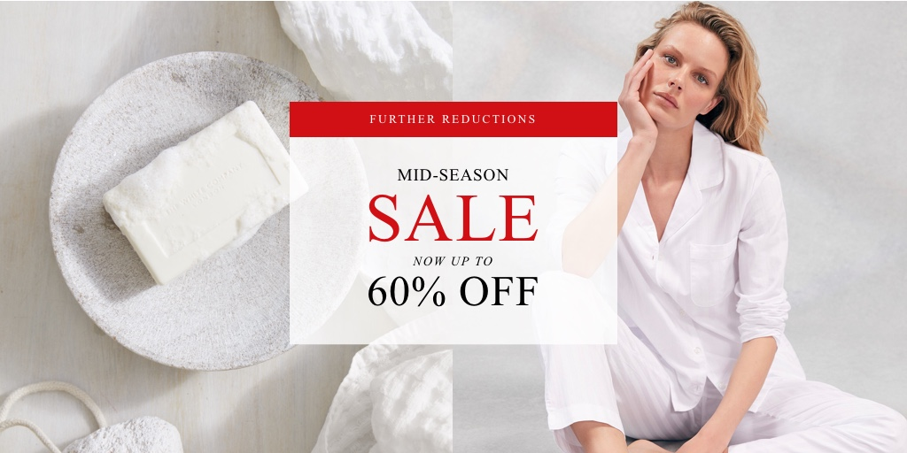 Hopefully something to make you smile: further reductions are here! Shop our Mid-Season Sale, now with up to 60% off https://t.co/hMYiif9Zj8 https://t.co/cyEUmKACpr