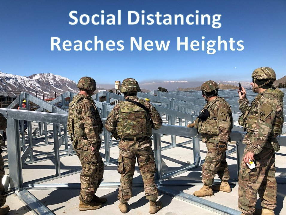 USACE Afghanistan District has taken Social Distancing to new heights! #USACE #SocialDistancing #COVID2019
