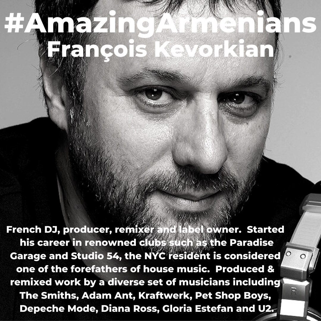 François Kevorkian an #AmazingArmenian who produces some amazing artists - one of the forefathers of #HouseMusic Do you have music at your house? https://t.co/JA9EcpPyF8