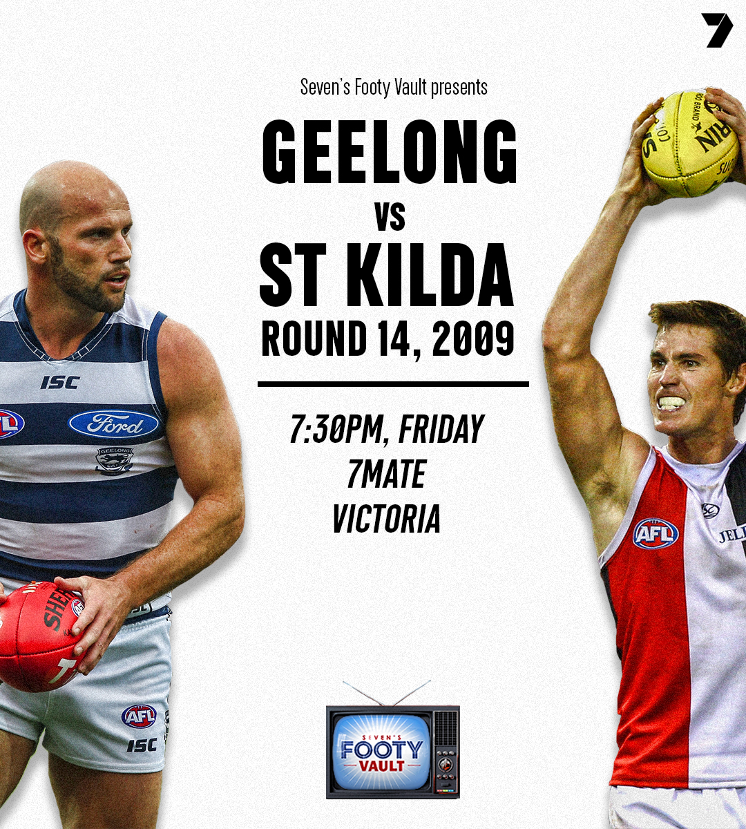 Bring it on! Watch all the action through @7mate as we take you back to 2009, with full coverage through our social channels.