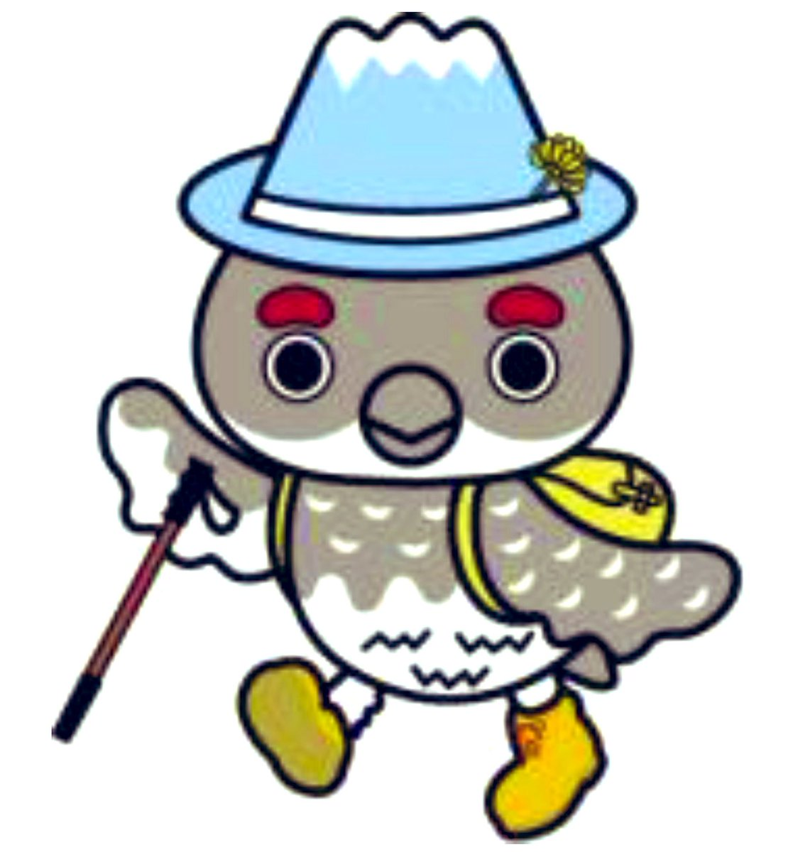 Raijii, a 20,005-year-old rock ptarmigan bird with a mountain hat, is the mascot of Tateyama town in Japan.