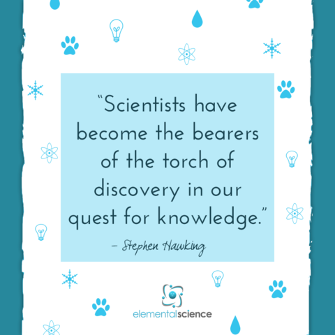 """Scientists have become the bearers of the torch of discovery in our quest for knowledge."" - Stephen Hawking https://elementalscience.com/blogs/quotes-for-science/scientists-have-become … #sciencequotes #inspirationalquote #scientistspic.twitter.com/e5nrHTsLCj"